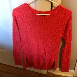 Coral sweater!
